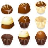 De geïsoleerdet vectorillustratie van de chocolade suikergoed. Stock Foto's