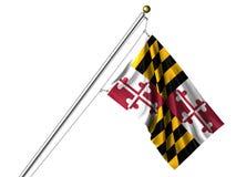 De geïsoleerdet Vlag van Maryland Royalty-vrije Stock Fotografie