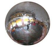 De geïsoleerdeu zilveren spiegel-bal van de nachtclub Stock Afbeelding