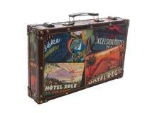 De geïsoleerdew Koffer van de Reis Stock Fotografie