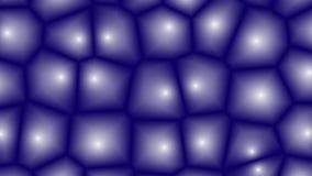 De geanimeerde cellen van het fantasiemozaïek met verschillende texturen en schaduwen stock videobeelden