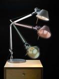 De gearticuleerde Lamp van het Bureau stock foto's