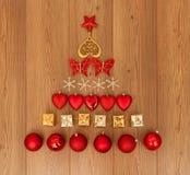 De geassorteerde Decoratie van Kerstmis Royalty-vrije Stock Afbeeldingen