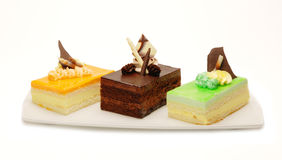 De geassorteerde Desserts van de Mousse royalty-vrije stock afbeeldingen