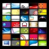 De geassorteerde Horizontale Achtergronden van het Adreskaartje Stock Fotografie