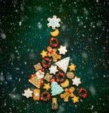 De geassorteerde koekjes van Kerstmis Stock Foto's