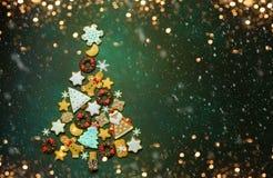De geassorteerde koekjes van Kerstmis Royalty-vrije Stock Fotografie
