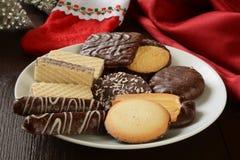 De geassorteerde koekjes van Kerstmis Royalty-vrije Stock Foto's