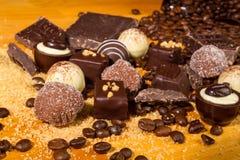 De geassorteerde pralines van de Chocoladetruffel Stock Foto