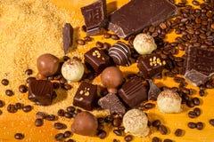 De geassorteerde pralines van de Chocoladetruffel Royalty-vrije Stock Afbeelding