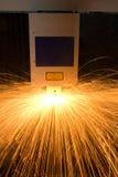 De geautomatiseerde machine van de metaalvervaardiging Stock Afbeelding