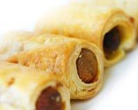 De gebakjes van de hotdog royalty-vrije stock foto