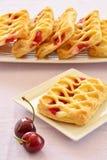 De gebakjes van de kersenvla Royalty-vrije Stock Afbeeldingen