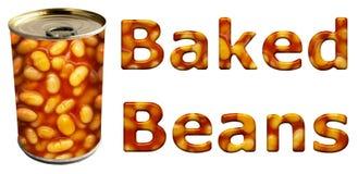 De gebakken Bonen kunnen en Woorden vector illustratie