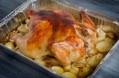 De gebakken folie van het kippenbaksel Stock Foto's