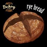 De gebakken vector van het roggebrood Gebakken broodproduct vector illustratie