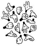 De gebaren van beeldverhaalhanden Stock Afbeelding