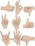 De gebaren van de hand Royalty-vrije Stock Foto's