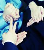 De gebaren van de hand stock afbeeldingen