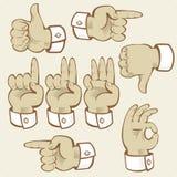 De gebaren van de hand Royalty-vrije Stock Afbeelding