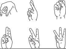 De gebaren van de hand Stock Foto