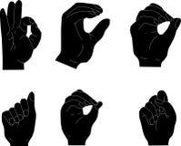 De gebaren van de hand Royalty-vrije Stock Afbeeldingen
