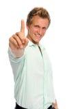 De gebaren van de hand in studio stock foto