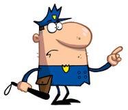 De gebaren van de politieman met vinger Royalty-vrije Stock Afbeelding