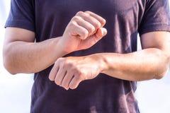 De gebarentaal van het baanwerk Stock Afbeelding