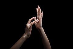 De gebarentaal van Jesus voor doof stock afbeeldingen