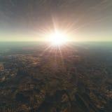 De gebarsten Achtergrond van de Horizon van de Aarde vector illustratie