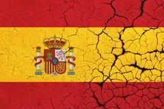 De gebarsten Vlag van Spanje - Crisis vector illustratie