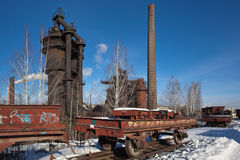 De gebaseerde Demidov dynastie van Nizhnytagil fabriek in 1725 Fabriek - Museum Het gebied van Sverdlovsk Stock Foto's