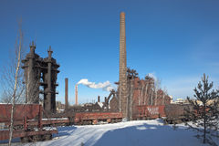 De gebaseerde Demidov dynastie van Nizhnytagil fabriek in 1725 Fabriek - Museum Het gebied van Sverdlovsk Stock Foto
