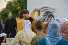 De gebeddienst bij de kerk van St John Evang Royalty-vrije Stock Fotografie