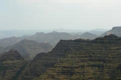 De Gebeitelde bergketens van Mahabaleshwar Royalty-vrije Stock Foto