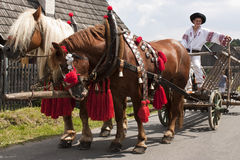 De gebeurtenis van de folklore in Slowakije. stock fotografie
