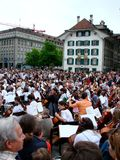 De gebeurtenis van de muziek: sternspiel in Bern Royalty-vrije Stock Fotografie