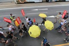 2015 de gebeurtenis van Hong Kong maart van 26ste verjaardag van de Vierkante protesten van Tiananmen van 1989 Royalty-vrije Stock Fotografie