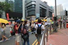 2015 de gebeurtenis van Hong Kong maart van 26ste verjaardag van de Vierkante protesten van Tiananmen van 1989 Stock Foto