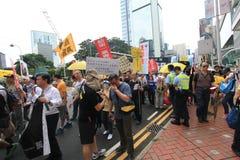De gebeurtenis van Hong Kong maart van 26ste verjaardag van de Vierkante protesten van Tiananmen van 1989 Royalty-vrije Stock Foto's