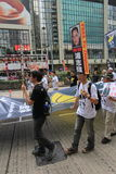 De gebeurtenis van Hong Kong maart van 26ste verjaardag van de Vierkante protesten van Tiananmen van 1989 Stock Fotografie
