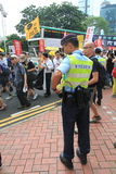 De gebeurtenis van Hong Kong maart van 26ste verjaardag van de Vierkante protesten van Tiananmen van 1989 Royalty-vrije Stock Afbeelding