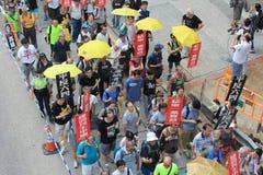 De gebeurtenis van Hong Kong maart van 26ste verjaardag van de Vierkante protesten van Tiananmen van 1989 Royalty-vrije Stock Afbeeldingen
