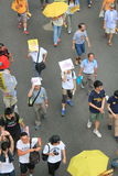 2015 de gebeurtenis van Hong Kong maart van 26ste verjaardag van de Vierkante protesten van Tiananmen van 1989 Royalty-vrije Stock Afbeeldingen