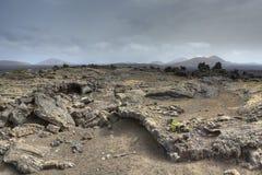 De gebieden van de lava stock afbeeldingen