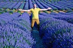 De gebieden van de lavendel Royalty-vrije Stock Foto