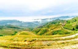 De gebieden van het rijstterras door longesheng in China Stock Afbeelding