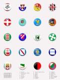 De gebieden van Italië vlagballen/zegels Stock Afbeeldingen