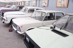 De gebieden van Mazuryostroda in sneeuw in Polen worden behandeld dat Royalty-vrije Stock Foto's